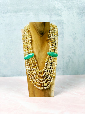 Luck & Prosperity Citrine Statement Necklace