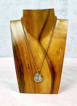 Guadalupe Protection Gold Necklace