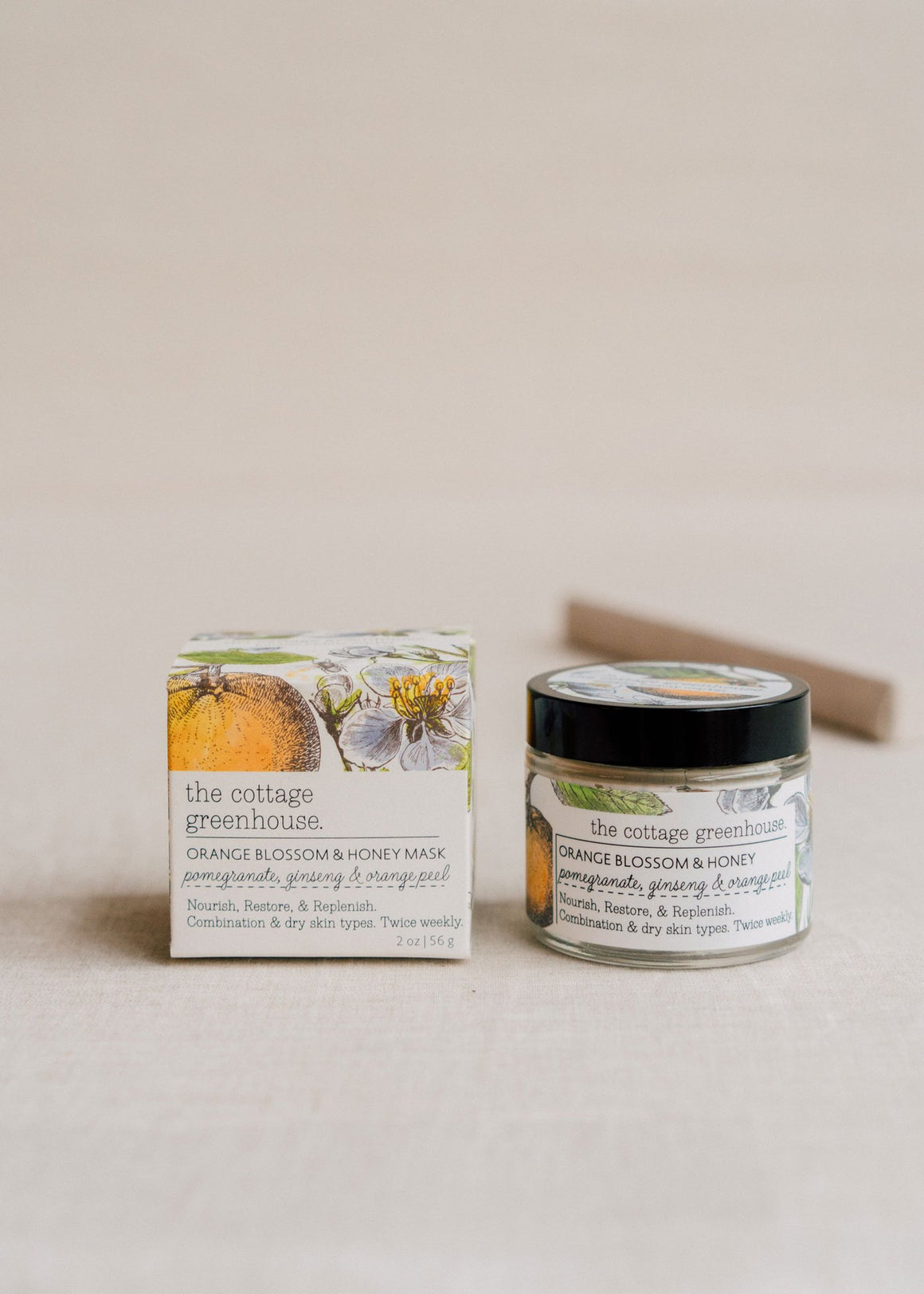 The Cottage Greenhouse Orange & Honey Face Mask
