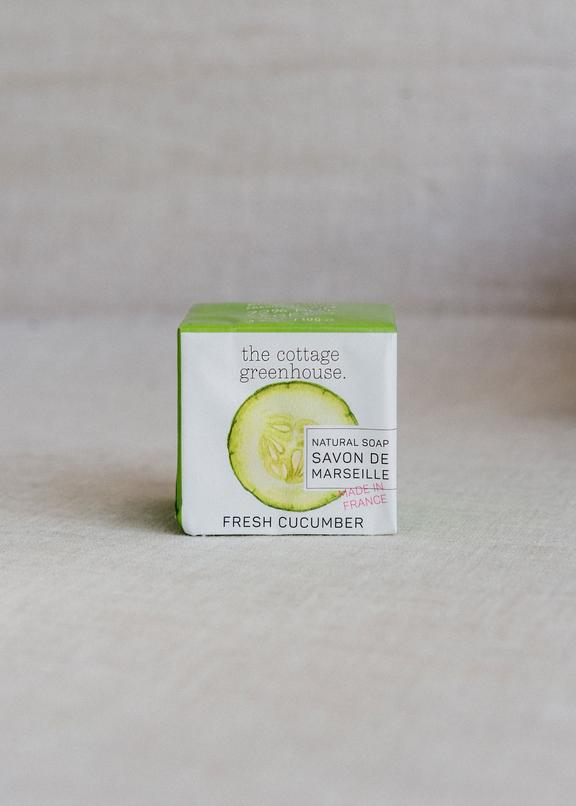 The Cottage Greenhouse Cucumber French Soap