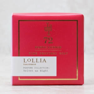 Lollia Poetic License Soap 72 Velvet As the Night