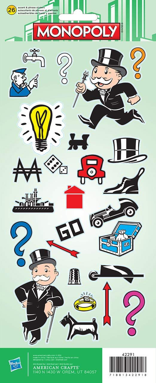 Monopoly Game Board Stickers