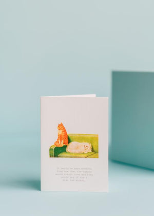 TokyoMilk Cats Blank Greeting Card