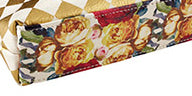 Gold Harlequin Pattern Oil Cloth Zipper Pouch