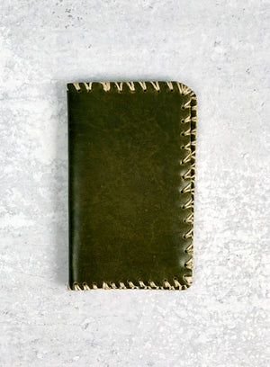 Olive Green Leather Wallet
