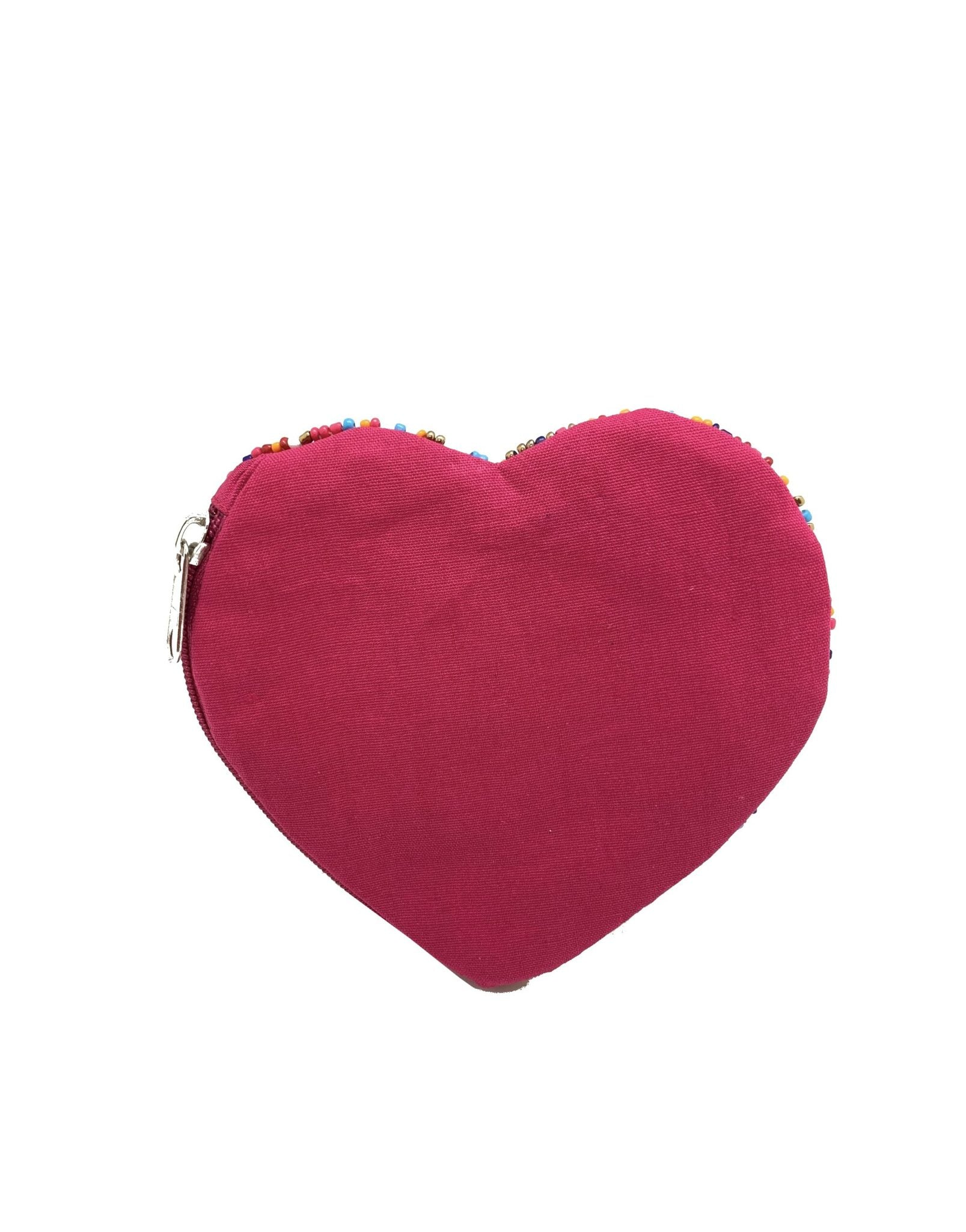 Heart Beaded Coin Zipper Pouch