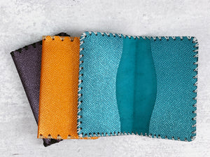 Saffiano Metallic Leather Wallet