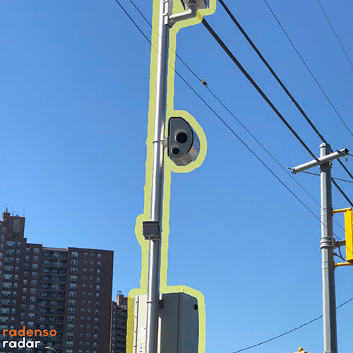 Street Camera using Multi Radar technology in a red light camera.