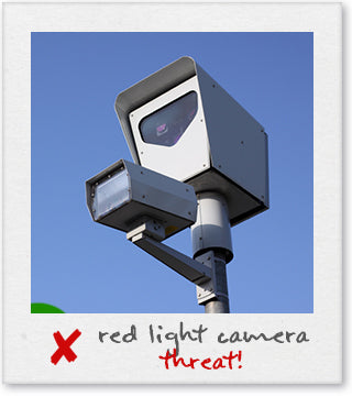 Red Light Camera On A Pole Scanning For Speeding Offenders
