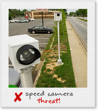 Speed Camera on a Pole scanning for speeding offenders