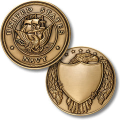US Navy Large Medallion (Engravable)