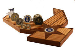 CHALLENGE COIN DISPLAY - 40 COUNT AIR FORCE EMBLEM