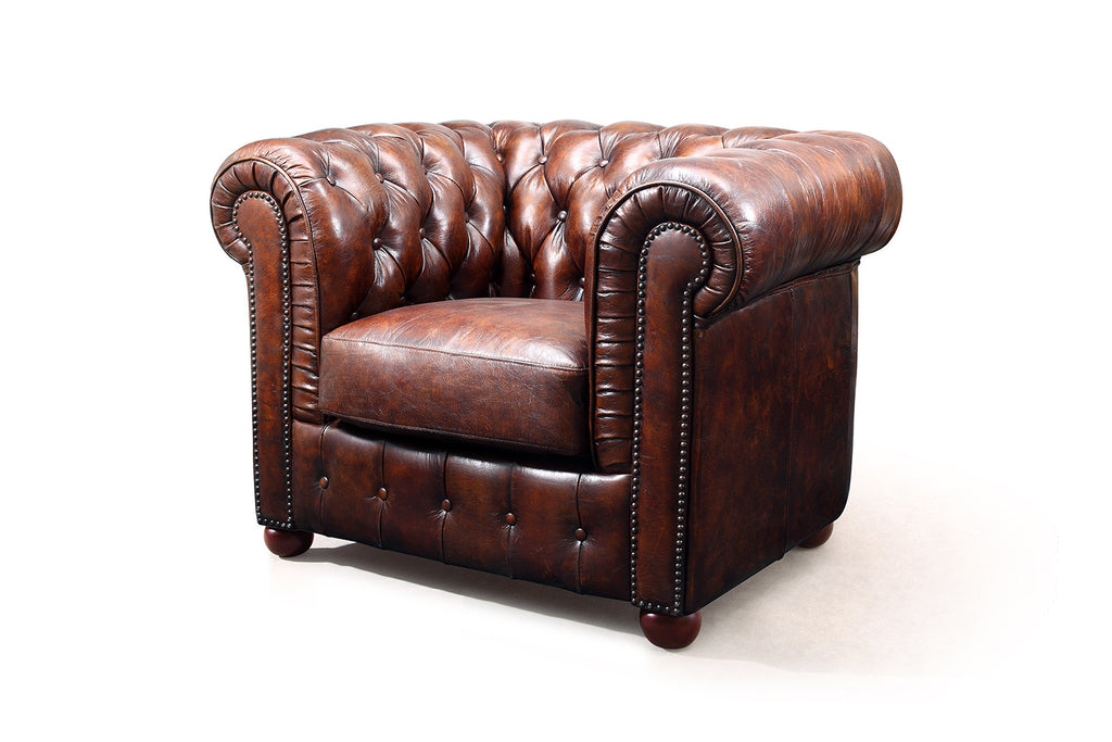 Original Chesterfield Sessel Rose Moore