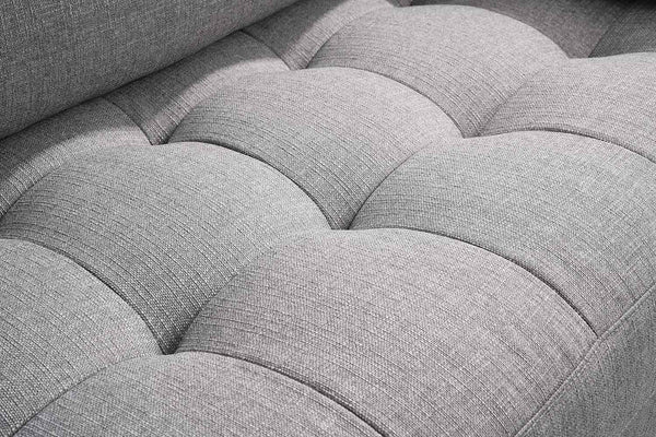 Canapé tissu Gris zoom assise