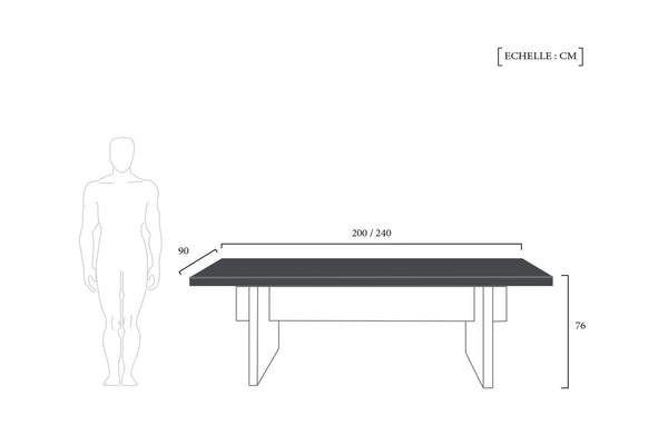 Schéma Technique Table Design Nordique Aar Dewarens meta dimensions