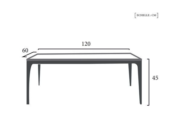 Schéma Technique Table Design Nordique Dewarens