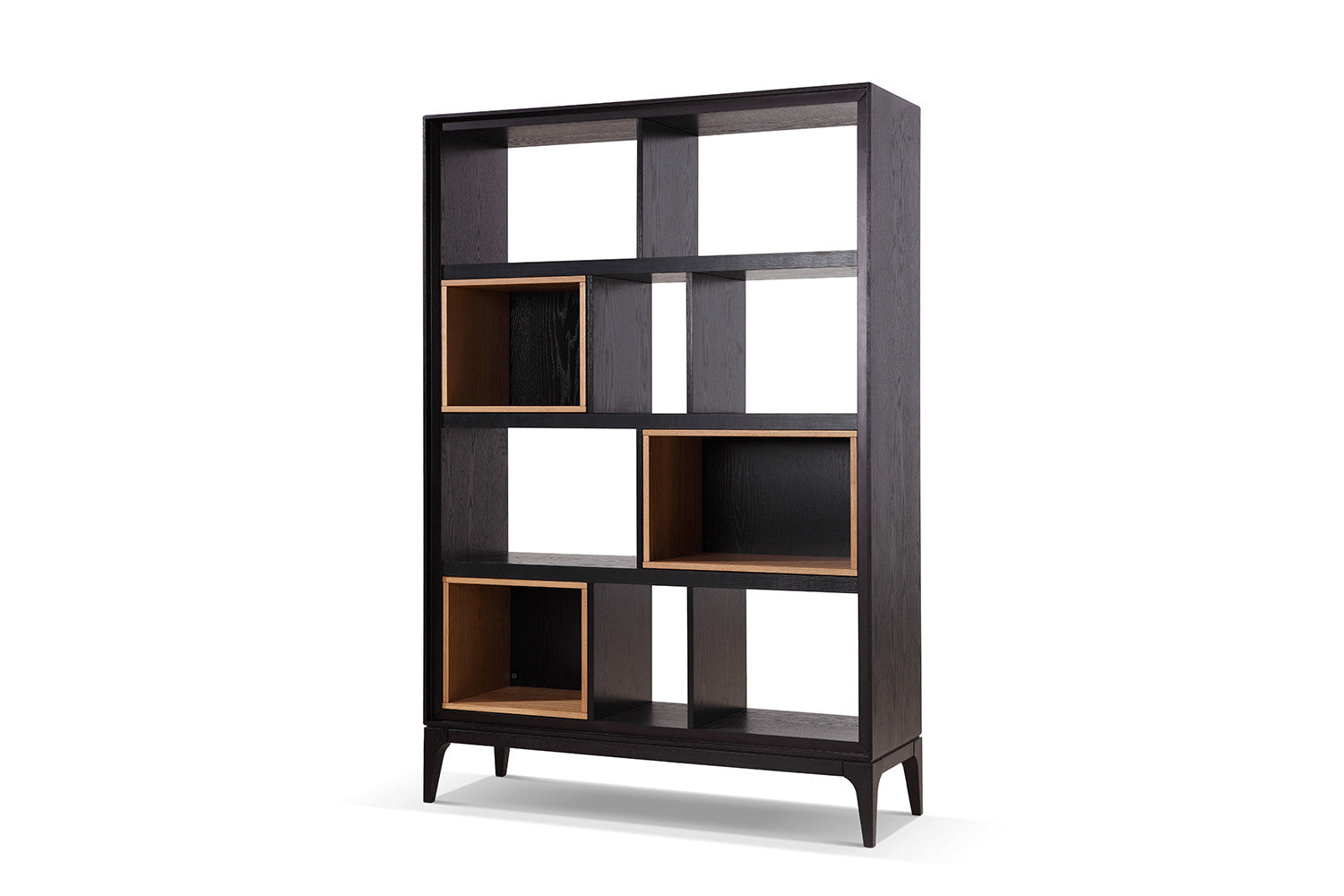 biblioth que vintage noire et bois bial dewarens. Black Bedroom Furniture Sets. Home Design Ideas