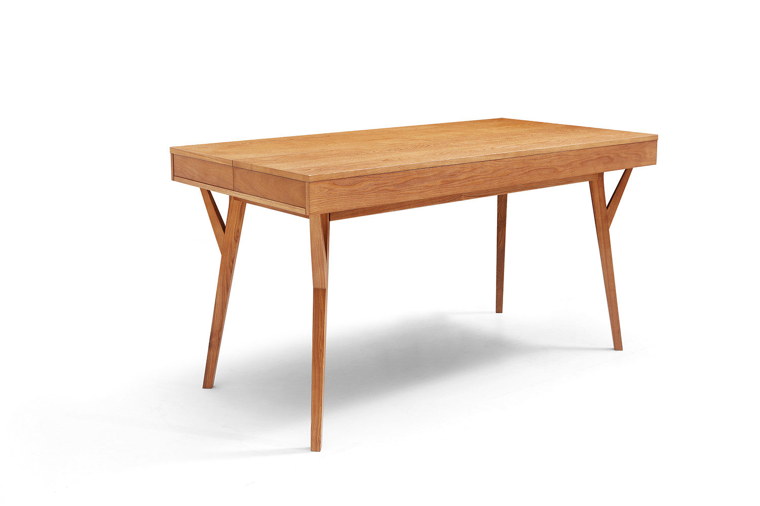 Bureau design scandinave en bois et convertible emme for Table bureau