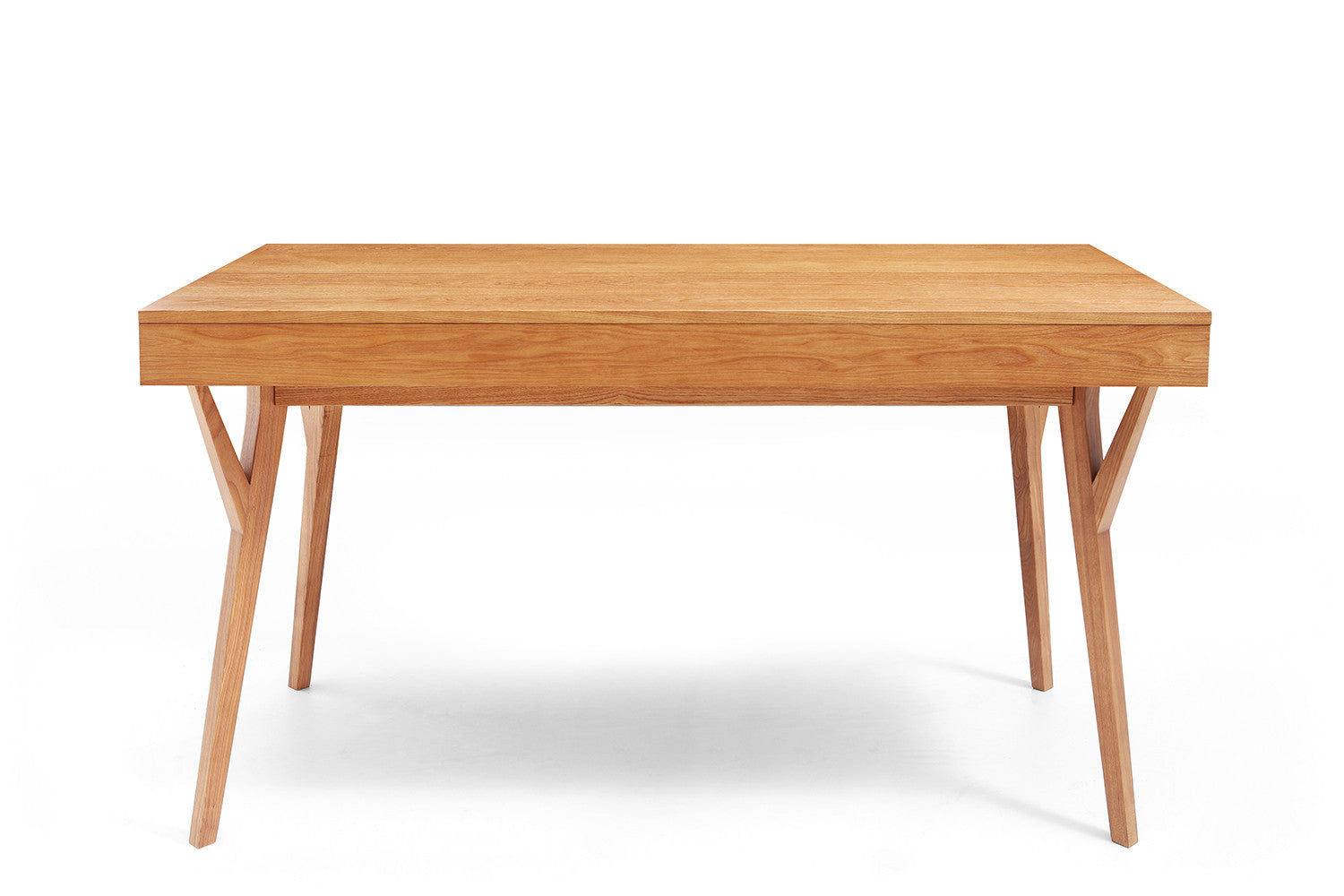 Bureau design scandinave en bois et convertible emme for Table vue de haut