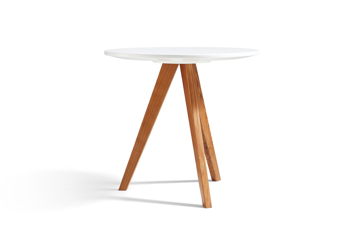 Table d 39 appoint design blanche en bois b le dewarens - Table d appoint design ...