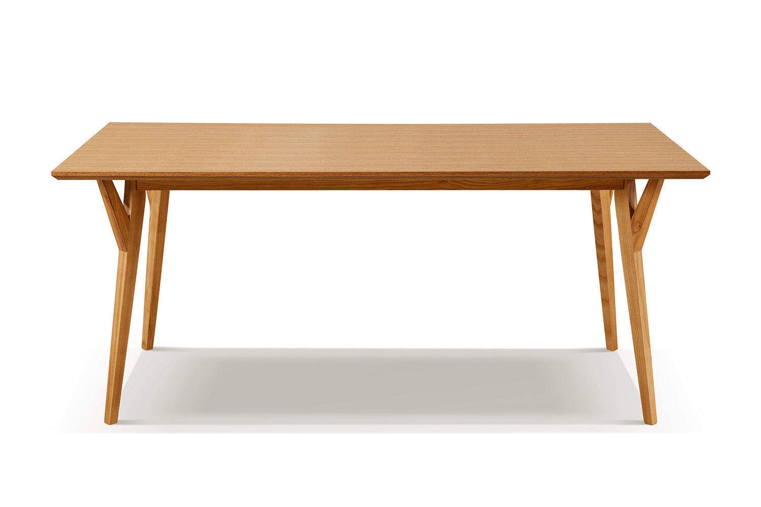 Table de salle manger scandinave en bois linth dewarens - Table a manger a rallonge ...