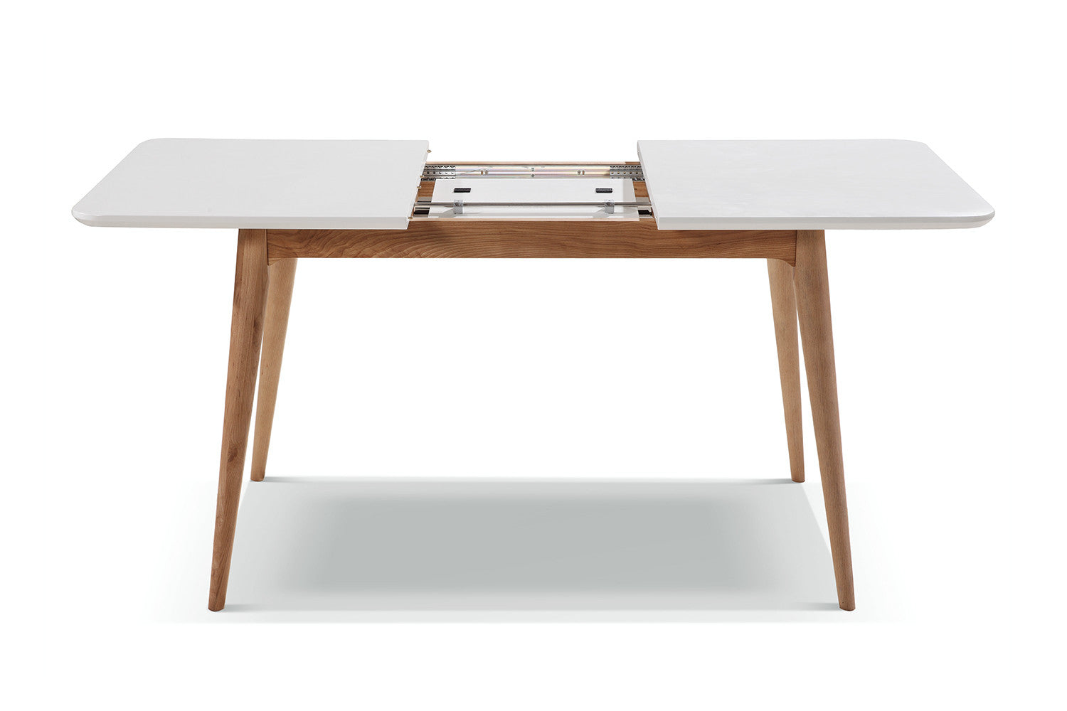 Table cuisine avec rallonge maison design for Table extensible rallonge integree