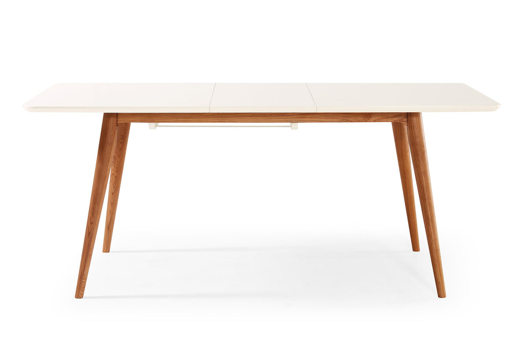 Table de salle manger extensible scandinave wyna dewarens for Table a manger bois et blanc