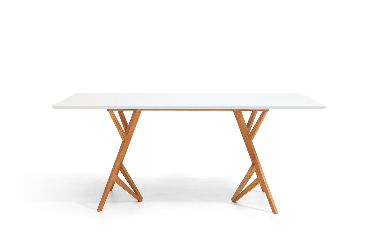 Table de salle manger design scandinave vispa dewarens - Table blanche en bois ...