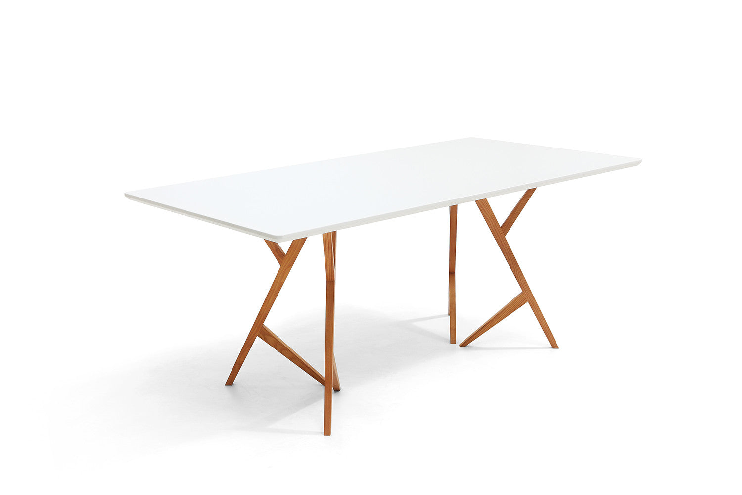 Table de salle manger design scandinave vispa dewarens for Table a manger bois blanc