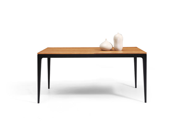 table de repas vintage scandinave noire et bois toss dewarens. Black Bedroom Furniture Sets. Home Design Ideas