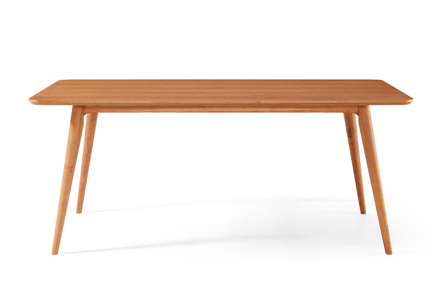 Table de salle manger design en bois julia dewarens for Table bois clair scandinave