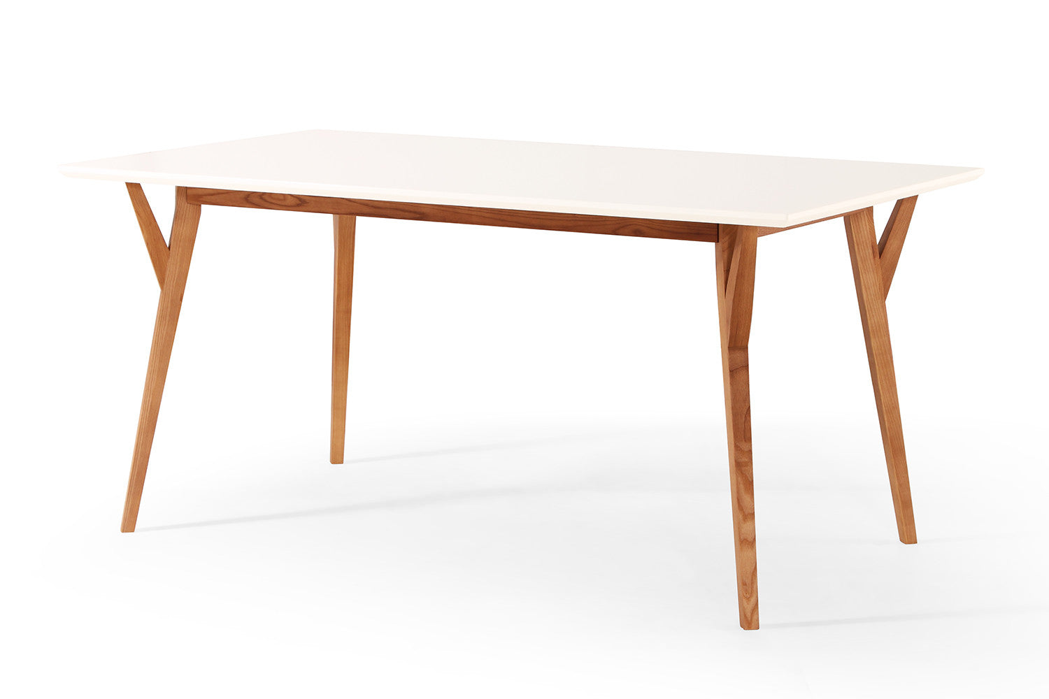 Table salle a manger blanche design valdiz for Table a manger blanche design