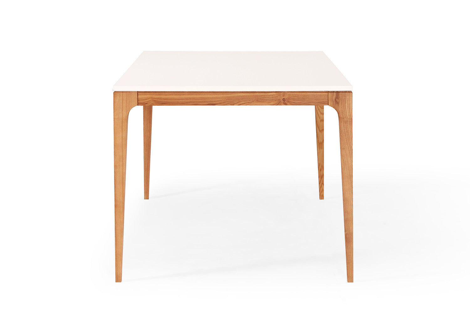 table de repas design scandinave blanche et bois maggia. Black Bedroom Furniture Sets. Home Design Ideas