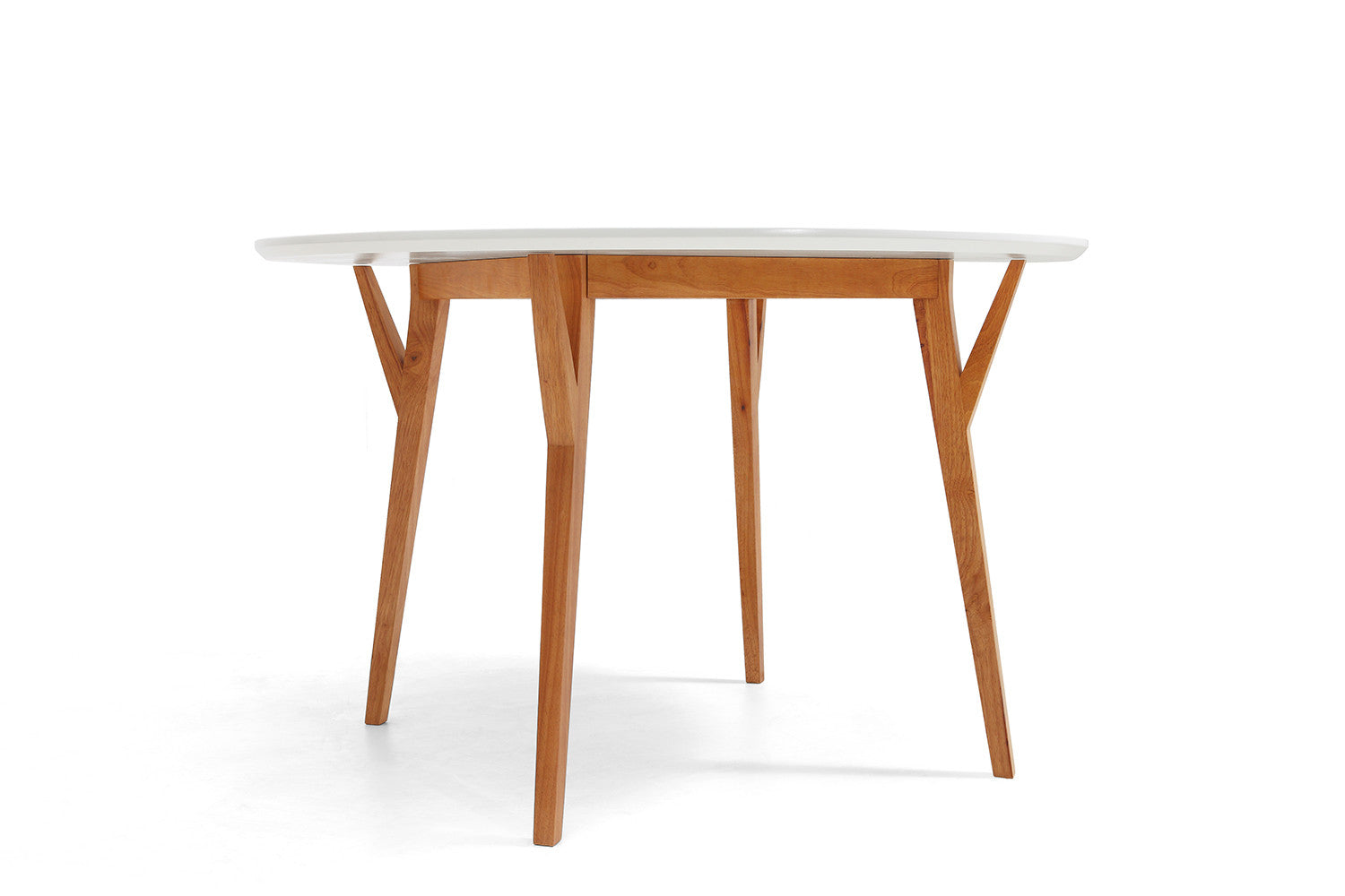 Table de salle manger ronde design scandinave moesa for Table blanche salle a manger