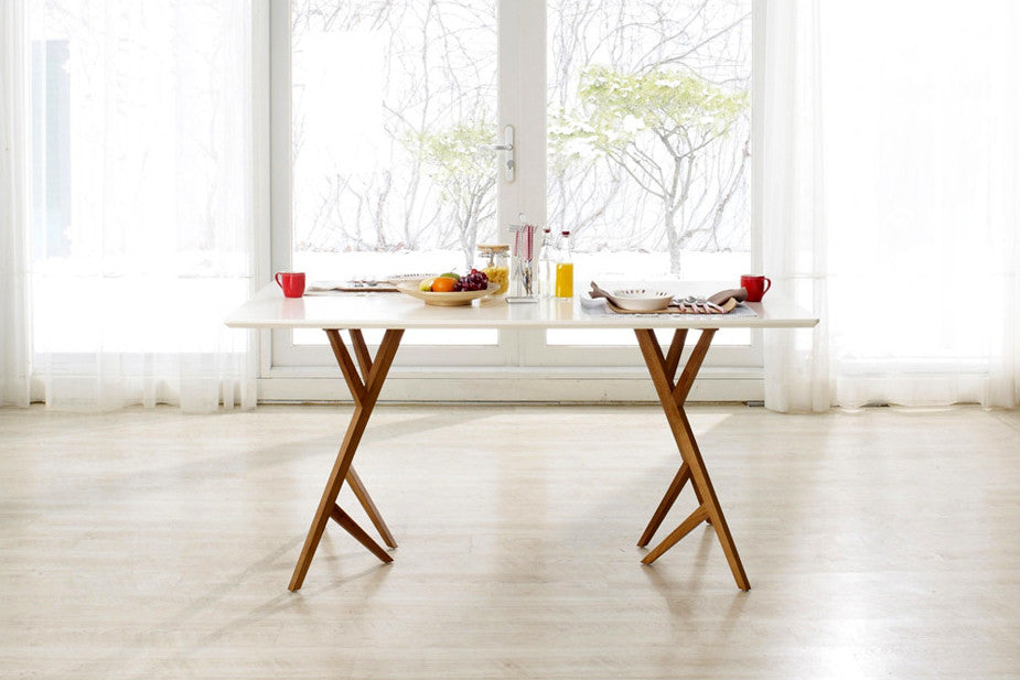 table de salle manger design scandinave vispa dewarens. Black Bedroom Furniture Sets. Home Design Ideas