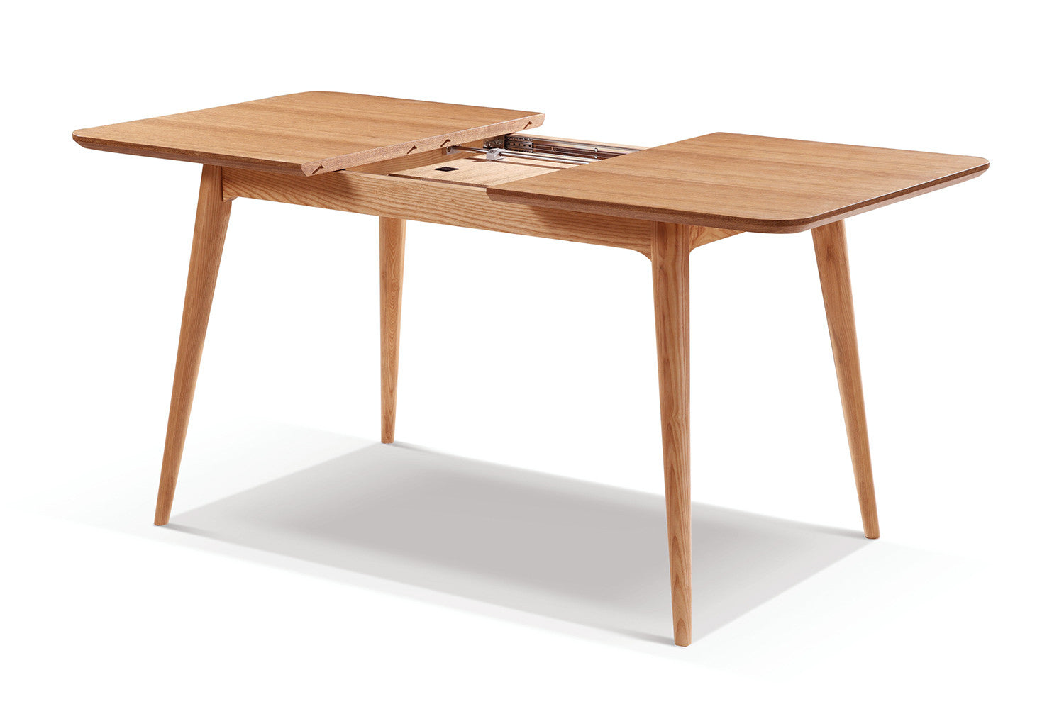 Table de salle manger extensible en bois adda dewarens for Table de cuisine rectangulaire extensible
