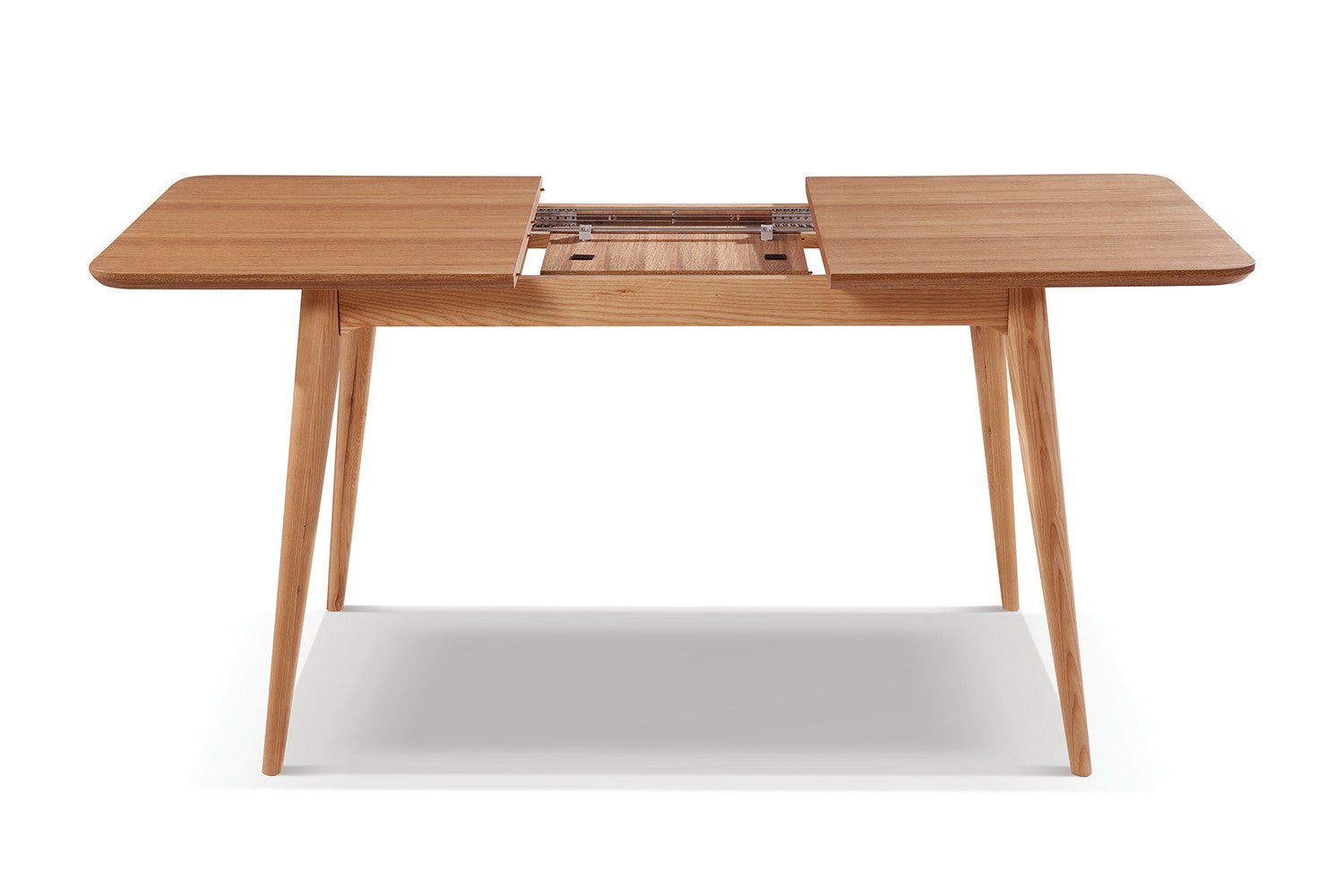 Table de salle manger extensible en bois adda dewarens for Table a manger rallonge