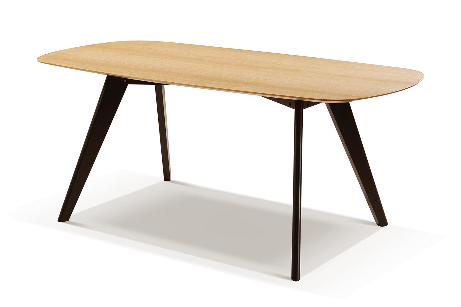 Table scandinave noire for Table nordique extensible