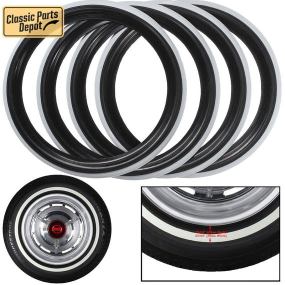 Black White wall Tire trim Mickey insert ring insert Fit For Citroen - Classic Parts Depot