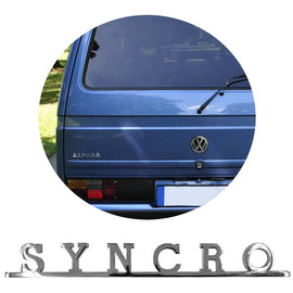 Vw Syncro Script Emblem Badge For Type 25 T3 Golf T4 T5 - Classic Parts Depot