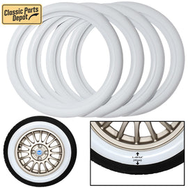 White Wall trim ring insert Sidewall Port-a-walls Trim Fit For Fiat - Classic Parts Depot