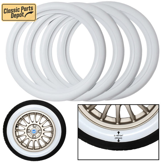 Whitewall insert Portawall tire sidewall Trim Set of 4 Fit For Citroen - Classic Parts Depot