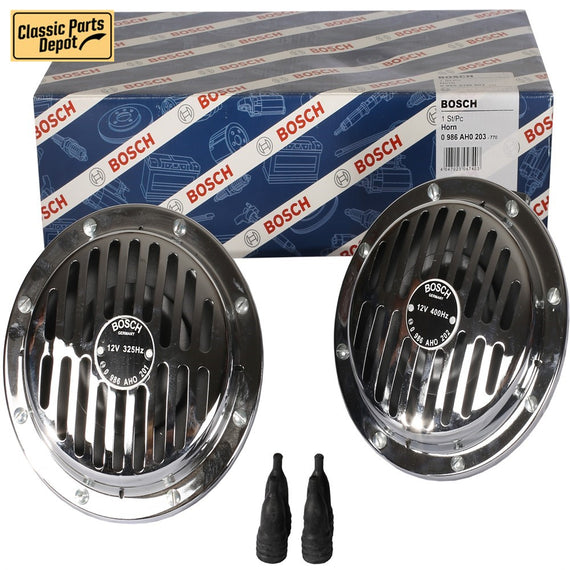 Classic Bosch Horn Grille Chrome set Fit for Bmw - Classic Parts Depot