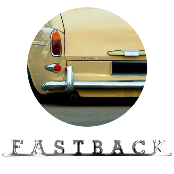 Vw Script Emblem Badge Sign For Vw Fastback Type 3 - Classic Parts Depot