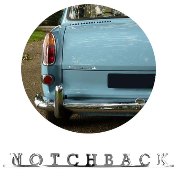 Vw Notchback Script Emblem Badge Sign For Vw Type 3 - Classic Parts Depot