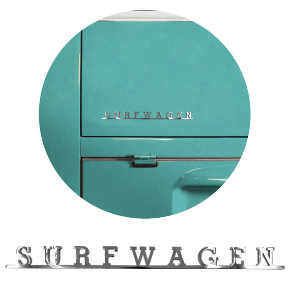 Surfwagen Script Emblem Badge For Vw T1 Bus Kafer Type 2 - Classic Parts Depot