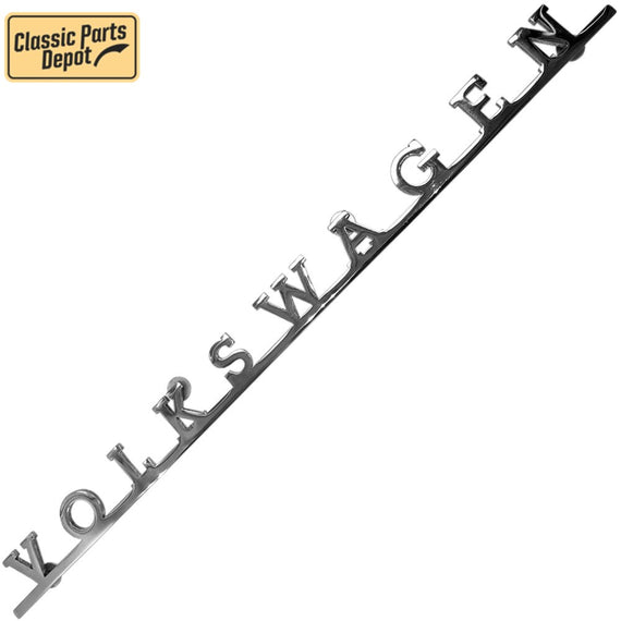 Volkwagen Script Decklid Emblem Badge For Vw bus, type 3 - Classic Parts Depot