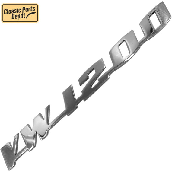 Vw 1200 Script Decklid Emblem Badge For Vw bug, beetle Type 1 - Classic Parts Depot