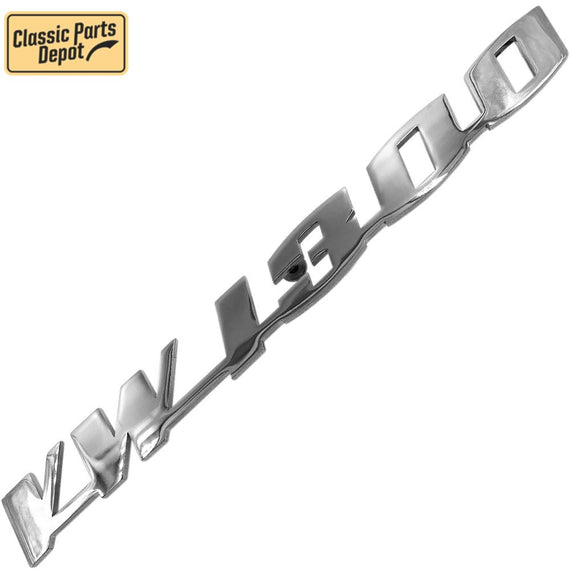 Vw 1300 Script Decklid Emblem Badge For Vw bug, beetle Type 1 - Classic Parts Depot