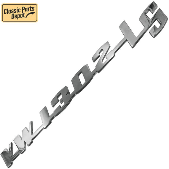 Vw 1302LS Script Decklid Emblem Badge For Vw bug, beetle Type 1 - Classic Parts Depot